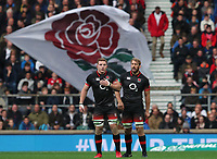 England's Chris Robshaw and England's Sam Underhill <br /> <br /> Photographer Rachel Holborn/CameraSport<br /> <br /> International Rugby Union Friendly - Old Mutual Wealth Series Autumn Internationals 2017 - England v Argentina - Saturday 11th November 2017 - Twickenham Stadium - London<br /> <br /> World Copyright &copy; 2017 CameraSport. All rights reserved. 43 Linden Ave. Countesthorpe. Leicester. England. LE8 5PG - Tel: +44 (0) 116 277 4147 - admin@camerasport.com - www.camerasport.com