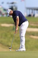 Shane Lowry (IRL) putts on the 17th green during Thursday's Round 1 of the 118th U.S. Open Championship 2018, held at Shinnecock Hills Club, Southampton, New Jersey, USA. 14th June 2018.<br /> Picture: Eoin Clarke | Golffile<br /> <br /> <br /> All photos usage must carry mandatory copyright credit (&copy; Golffile | Eoin Clarke)