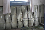 panels of first order fresnel lens in Foghorn Building at Pigeon Point