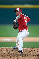 Buffalo Bisons pitcher Bobby Korecky (29) delivers a pitch during a game against the Scranton/Wilkes-Barre RailRiders on June 10, 2015 at Coca-Cola Field in Buffalo, New York.  Scranton/Wilkes-Barre defeated Buffalo 7-2.  (Mike Janes/Four Seam Images)