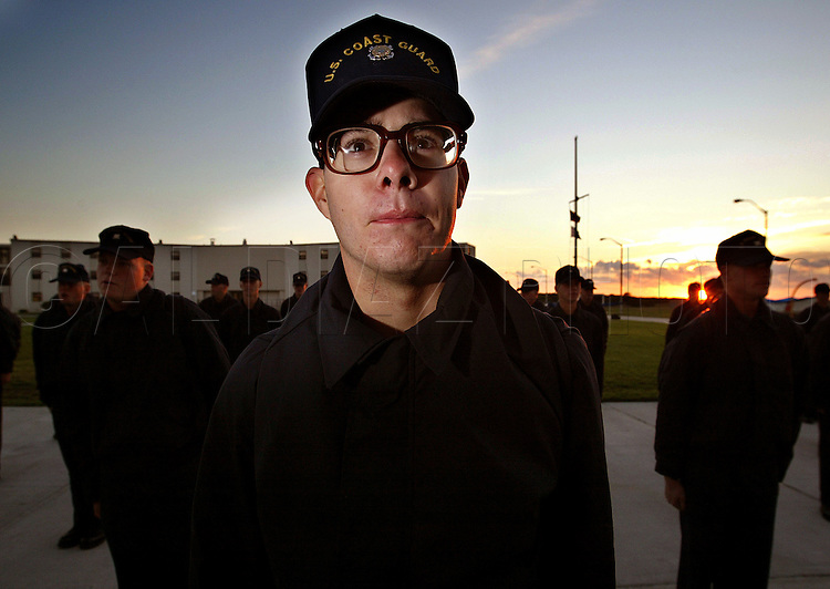 Seaman recruit Murphy at sunrise Boot camp at The United States Coast Guard Training Center Cape May, NJ.