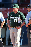 Michigan State Spartans Jake Boss Jr #23 during a game vs the Akron Zips at Chain of Lakes Park in Winter Haven, Florida;  March 12, 2011.  Michigan State defeated Akron 5-1.  Photo By Mike Janes/Four Seam Images