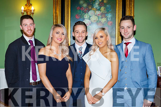 Billy O'Brien, Aisling Howe, Damian Clifford, Stella Hallissey and Joe Clifford at the Listry GAA social in the Dromhall Hotel on Saturday night