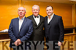 Entertainers l-r   Dermot Moriarty, Frank Forde and  Patrick Feeney at  the Radio Kerry A Night with the Stars annual concert at The Brandon Hotel on Monday