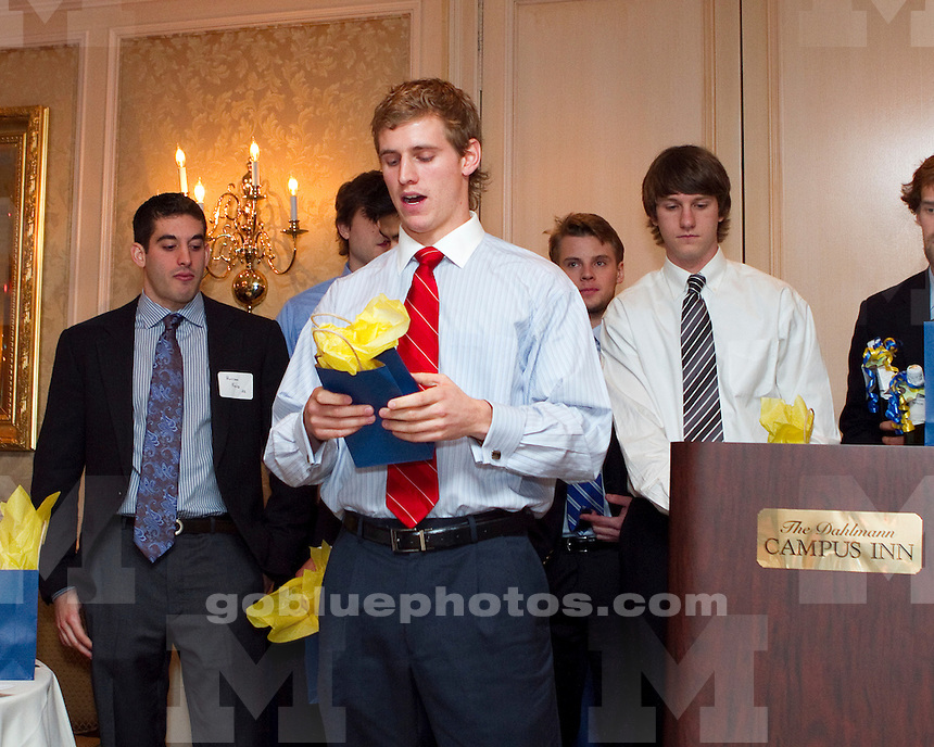 The University of Michigan men's lacrosse team banquet  at the Campus Inn in Ann Arbor, MI, on April 28, 2011.