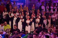 18.12.2014.  London, England.  William Hill PDC World Darts Championship.  Darts fans at the 2015 William Hill World Darts Championship.