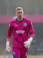 Goalkeeper Ryan Allsop of Wycombe Wanderers during the Sky Bet League 2 match between Wycombe Wanderers and Stevenage at Adams Park, High Wycombe, England on 12 March 2016. Photo by Andy Rowland/PRiME Media Images.