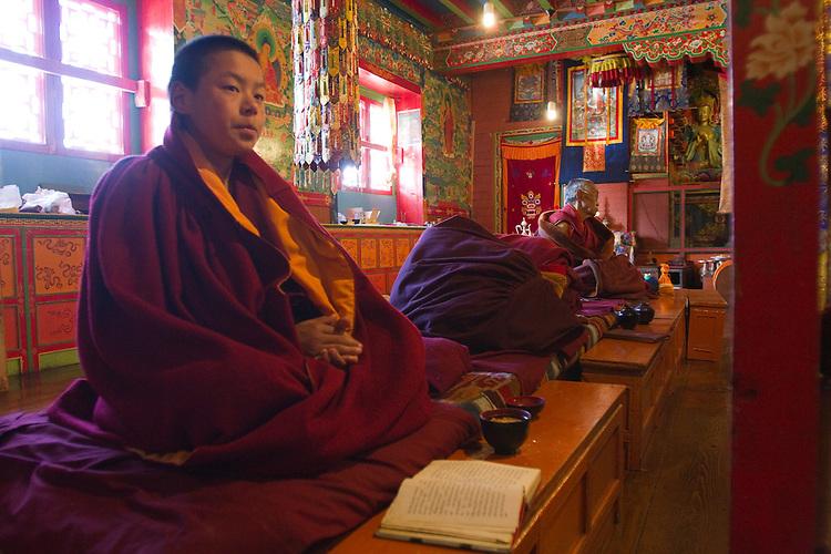 Tengboche Monastery monk. Photo by Didrik Johnck.