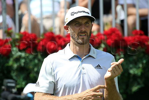 22.09.2016. Atlanta, Georgia, USA. Dustin Johnson during the opening round of the 2016 PGA Tour Championship at East Lake Golf Club in Atlanta, Georgia.