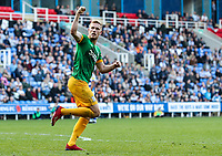 Preston North End's Jayden Stockley celebrates scoring his side's first goal  <br /> <br /> Photographer Andrew Kearns/CameraSport<br /> <br /> The EFL Sky Bet Championship - Reading v Preston North End - Saturday 30th March 2019 - Madejski Stadium - Reading<br /> <br /> World Copyright © 2019 CameraSport. All rights reserved. 43 Linden Ave. Countesthorpe. Leicester. England. LE8 5PG - Tel: +44 (0) 116 277 4147 - admin@camerasport.com - www.camerasport.com