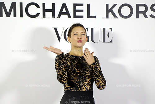 "November 13, 2017, Tokyo, Japan - American actress Kate Hudson poses for photo as she attends a charity dinner against hunger ""Michael Kors Watch Hunger Stop Charity Gala Dinner"" in Tokyo on Monday, November 13, 2017.     (Photo by Yoshio Tsunoda/AFLO) LWX -ytd-"