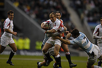 Twickenham. GREAT BRITAIN, Jamie NOON atacking with the ball, during the, 2006 Investec Challenge, game between, England  and Argentina, on Sat., 11/11/2006, played at the Twickenham Stadium, England. Photo, Peter Spurrier/Intersport-images].....