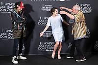 Oscar Jaenada, Joana Ribeiro and British director Terry Gilliam attends to presentation of 'El hombre que mato a Don Quijote' (The man who killed Don Quixote) at NH Eurobuilding Hotel in Madrid, Spain. May 29, 2018. (ALTERPHOTOS/Borja B.Hojas) /NortePhoto.com