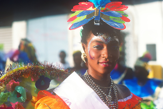 Mardi Gras, Pointe-a-Pitre, Guadeloupe, French West Indies, Caribbean.