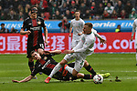 17.03.2019, BayArena, Leverkusen, GER, DFL, 1. BL, Bayer 04 Leverkusen vs SV Werder Bremen, DFL regulations prohibit any use of photographs as image sequences and/or quasi-video<br /> <br /> im Bild v.l. Lars Bender (#8, Bayer 04 Leverkusen) foult Johannes Eggestein (#24, SV Werder Bremen) <br /> <br /> Foto © nph/Mauelshagen