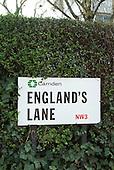 Street sign, England's Lane, Belsize Park