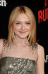 HOLLYWOOD, CA. - March 11: Dakota Fanning arrives at the Los Angeles Premiere of The Runaways at ArcLight Cinemas Cinerama Dome on March 11, 2010 in Hollywood, California.