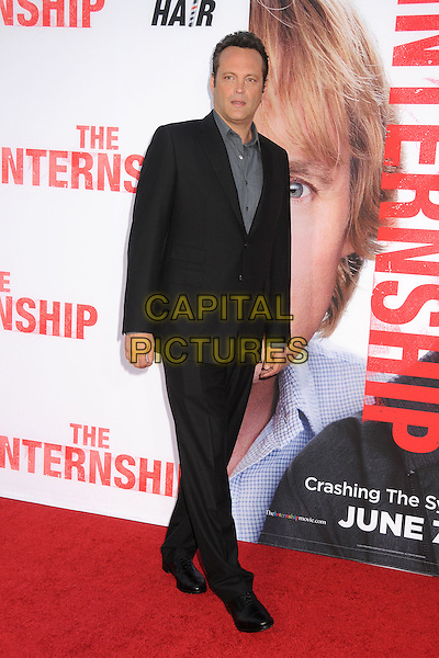 Vince Vaughn<br /> &quot;The Internship&quot; Los Angeles Premiere held at the Regency Village Theatre, Westwood, California, USA.<br /> May 29th, 2013<br /> full length shirt grey gray suit black<br /> CAP/ADM/BP<br /> &copy;Byron Purvis/AdMedia/Capital Pictures