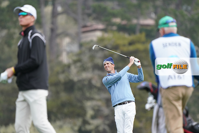 Chesson Hadley (USA) during the third round of the AT&T Pro-Am, Pebble Beach, Monterey, California, USA. 07/02/2020<br /> Picture: Golffile | Phil Inglis<br /> <br /> <br /> All photo usage must carry mandatory copyright credit (© Golffile | Phil Inglis)
