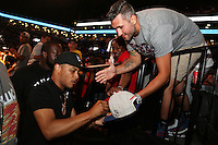 BROOKLYN, NEW YORK - JULY 21, 2016 T.I. signs autographs at the Roc Nation Summer Classic Charity Basketball Game July 21, 2016 at The Barclays Center in Brooklyn, New York. Photo Credit: Walik Goshorn / Media Punch
