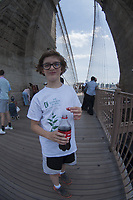 Max, Brooklyn Bridge, New York, US