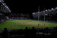 A general view of the action at the Emerald Headingley Stadium<br /> <br /> Photographer Alex Dodd/CameraSport<br /> <br /> Betfred Super League Round 6 - Leeds Rhinos v Toronto Wolfpack - Thursday 5th March 2020 - Headingley - Leeds<br /> <br /> World Copyright © 2020 CameraSport. All rights reserved. 43 Linden Ave. Countesthorpe. Leicester. England. LE8 5PG - Tel: +44 (0) 116 277 4147 - admin@camerasport.com - www.camerasport.com