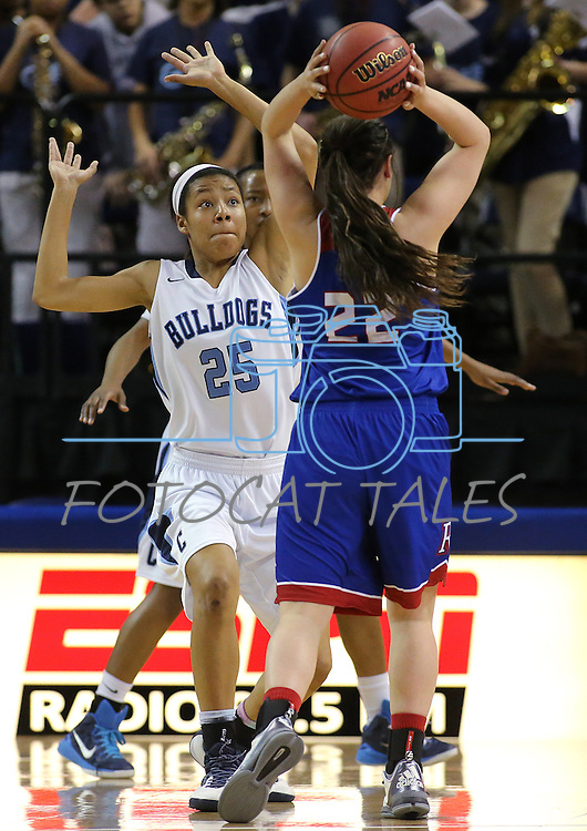 Centennial's Samantha Thomas defends against Reno's Mckain Murdock during the NIAA Division I state basketball tournament in Reno, Nev. on Thursday, Feb. 25, 2016. Centennial won 82-53. Cathleen Allison/Las Vegas Review-Journal