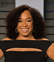 BEVERLY HILLS, CA - MARCH 4: Shonda Rhimes arrives at the 2018 Vanity Fair Oscar Party at the Wallis Annenberg Center for the Performing Arts on March 4, 2018 in Beverly Hills, California.(Photo by Scott Kirkland/PictureGroup)