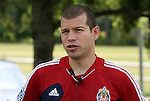04 June 2012: Alejandro Moreno (VEN). Chivas USA held a training session on Field 6 at WakeMed Soccer Park in Cary, NC the day before playing in a 2012 Lamar Hunt U.S. Open Cup fourth round game.
