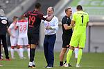 Schlussjubel Stefan REUTER (Manager FC Augsburg) <br />mit Chris Felix UDUOKHAI  (FC Augsburg).<br />Fussball 1. Bundesliga, 33.Spieltag, Fortuna Duesseldorf (D) -  FC Augsburg (A) 1-1, am 20.06.2020 in Duesseldorf/ Deutschland. <br /><br />Fussball 1. Bundesliga, 33.Spieltag, Fortuna Duesseldorf (D) -  FC Augsburg (A), am 20.06.2020 in Duesseldorf/ Deutschland. <br /><br />Foto: AnkeWaelischmiller/Sven Simon/ Pool/ via Meuter/Nordphoto<br /><br /># Editorial use only #<br /># DFL regulations prohibit any use of photographs as image sequences and/or quasi-video #<br /># National and international news- agencies out #