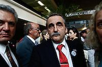 ATENÇÃO EDITOR: FOTO EMBARGADA PARA VEÍCULOS INTERNACIONAIS. SAO PAULO, SP, 18 DE SETEMBRO DE 2012.RODADA DE NEGOCIOS BRASIL-ARGENTINA. o secretario de comercio interno da Argentina, Guillermo Moreno, durante a rodada de negocios Brasil-ARgentina que aconteceu na tarde desta terça feira na sede da FIESP, na avenida Paulista, zona sul da capital paulista. FOTO ADRIANA SPACA/ BRAZIL PHOTO PRESS.