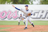 July 8, 2009: Tri-City Dust Devils' Daniel Perkins pitches against the Salem-Keizer Volcanoes during a Northwest League game at Volcanoes Stadium in Salem, Oregon.