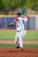 Lake County Captains relief pitcher Manuel Alvarez (38) delivers a pitch during the first game of a doubleheader against the South Bend Cubs on May 16, 2018 at Classic Park in Eastlake, Ohio.  South Bend defeated Lake County 6-4 in twelve innings.  (Mike Janes/Four Seam Images)