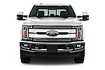 Car photography straight front view of a 2017 Ford F-250 Lariat-Crew-Cab 4 Door Pickup Front View