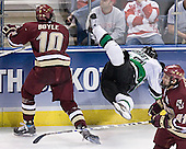 Brian Boyle, Matt Smaby - The Boston College Eagles defeated the University of North Dakota Fighting Sioux 6-5 on Thursday, April 6, 2006, in the 2006 Frozen Four afternoon Semi-Final at the Bradley Center in Milwaukee, Wisconsin.