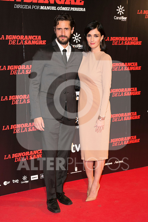 "Juan Diego Botto and Paz Vega attends ""La Ignorancia de la Sangre"" Premiere at Capitol Cinema in Madrid, Spain. November 13, 2014. (ALTERPHOTOS/Carlos Dafonte)"