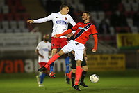 Matt Robinson of Dagenham and Ryan Upward of Maidenhead during Dagenham & Redbridge vs Maidenhead United, Vanarama National League Football at the Chigwell Construction Stadium on 7th December 2019