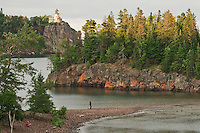 Split Rock Lighthouse on Lake Superior at Split Rock Lighthouse State Park near Duluth Minnesota.