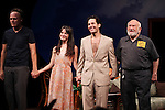 Michael Shannon, Kate Arrington, Paul Rudd and Ed Asner during the Opening Night Performance Curtain Call for 'Grace' at the Cort Theatre in New York City on 10/4/2012.