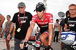 Alberto Contador (ESP) Trek-Segafredo at the end of Stage 9 of the 2017 La Vuelta, running 174km from Orihuela Ciudad del Poeta Miguel Hernandez to Cumbre del Sol, El Poble Nou de Benitatxell, Spain. 27th August 2017.<br /> Picture: Unipublic/&copy;photogomezsport | Cyclefile<br /> <br /> <br /> All photos usage must carry mandatory copyright credit (&copy; Cyclefile | Unipublic/&copy;photogomezsport)