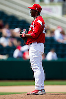 Jose Rada (36) of the Springfield Cardinals on the mound during a game against the San Antonio Missions on May 30, 2011 at Hammons Field in Springfield, Missouri.  Photo By David Welker/Four Seam Images