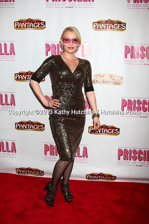 "LOS ANGELES - MAY 29:  Emii arrives at  the ""Priscilla Queen of the Desert"" Play Opening at the Pantages Theater on May 29, 2013 in Los Angeles, CA"
