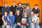Div 1 Legion winners KCYMS at The Kerry Area Basketball Board annual Awards and Medal presentations at the Kingdom Greyhound Stadium Tralee on  Tuesday
