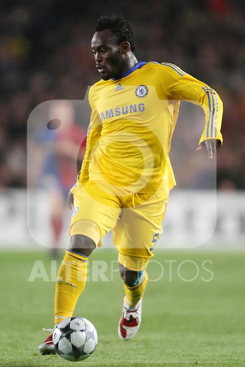 Chelsea's Michael Essien during the UEFA Champions League match.April 28 2009. (ALTERPHOTOS/Acero).