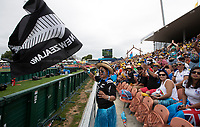 Sevens fans at the 2019 HSBC World Sevens Series Hamilton,  at FMG Stadium in Hamilton, New Zealand on Sunday, 27 January 2018. Photo: Brett Phibbs / lintottphoto.co.nz