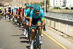 The peloton with Astana Pro team on the front during Stage 4 of 10th Tour of Oman 2019, running 131km from Yiti (Al Sifah) to Oman Convention and Exhibition Centre, Oman. 19th February 2019.<br /> Picture: ASO/K&aring;re Dehlie Thorstad | Cyclefile<br /> All photos usage must carry mandatory copyright credit (&copy; Cyclefile | ASO/K&aring;re Dehlie Thorstad)