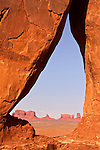 Monument Valley through Teardrop Window
