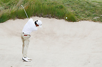 Satoshi Kodaira (JPN) hits out of a sand trap on the 14th hole during the second round of the 118th U.S. Open Championship at Shinnecock Hills Golf Club in Southampton, NY, USA. 15th June 2018.<br /> Picture: Golffile | Brian Spurlock<br /> <br /> <br /> All photo usage must carry mandatory copyright credit (&copy; Golffile | Brian Spurlock)