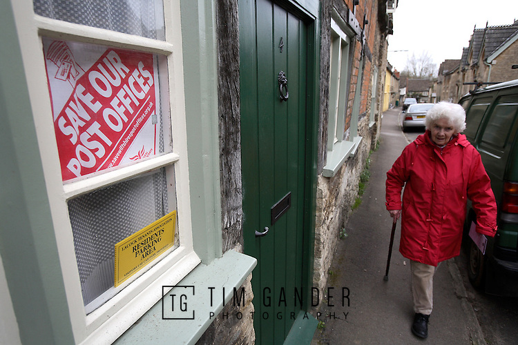 Villagers in Lacock, Wiltshire, fight to save their post office.