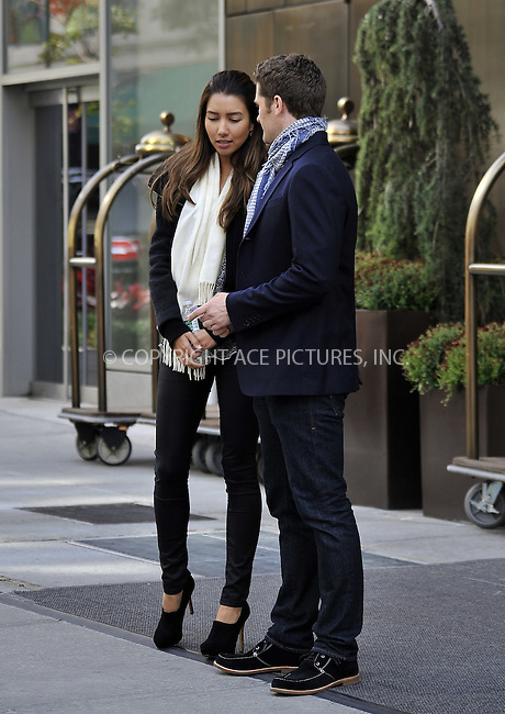 WWW.ACEPIXS.COM....October 17 2012, New York City....Actor Matthew Morrison and his girlfriend model Renee Puente walked around Soho on October 17 2012 in New York City....By Line: Curtis Means/ACE Pictures......ACE Pictures, Inc...tel: 646 769 0430..Email: info@acepixs.com..www.acepixs.com